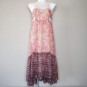 Free People | Boho Lace High Neck High Low Dress 8